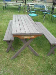 Make a Picnic Table; free plans - Diamond Willow Sticks